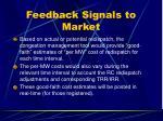 feedback signals to market