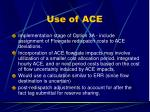 use of ace