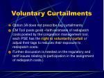 voluntary curtailments