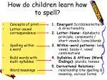 how do children learn how to spell4