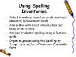 using spelling inventories