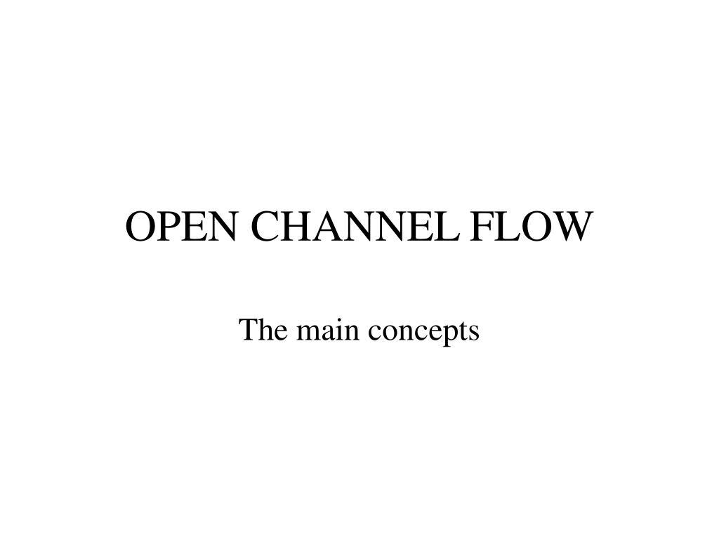 open channel flow l.