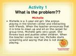 activity 1 what is the problem