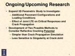 ongoing upcoming research