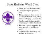scout emblem world crest