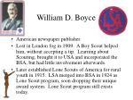 william d boyce