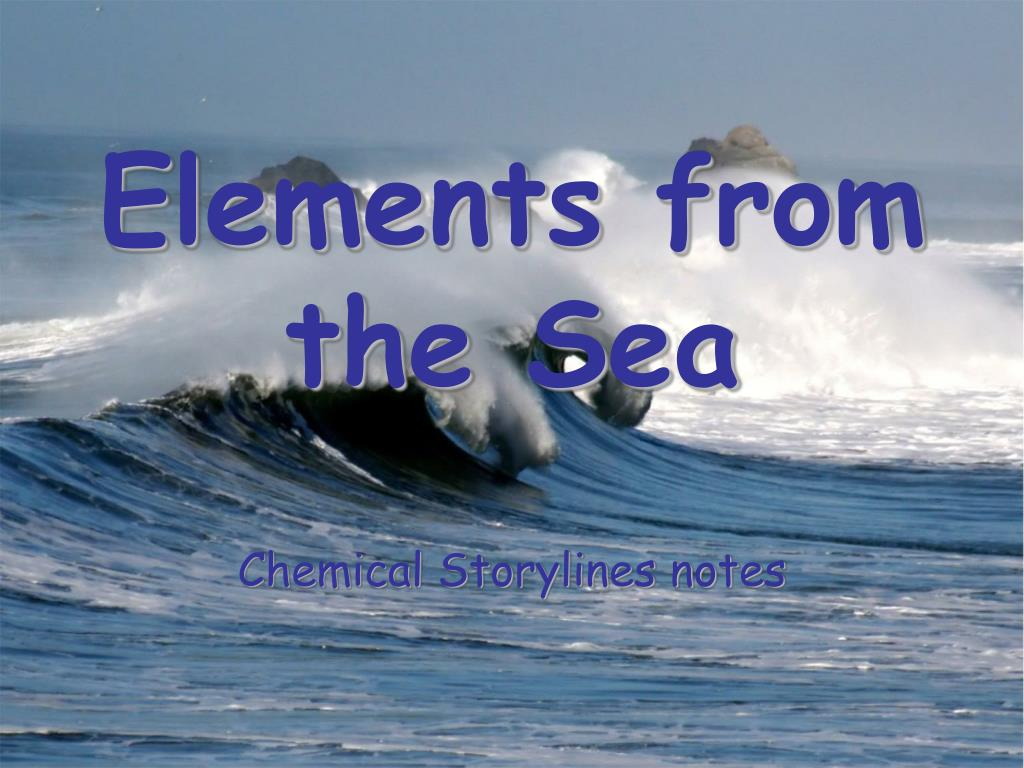 elements from the sea l.