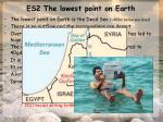 es2 the lowest point on earth
