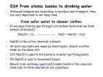 es4 from atomic bombs to drinking water