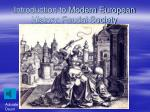 introduction to modern european history feudal society