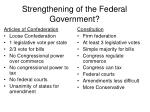 strengthening of the federal government