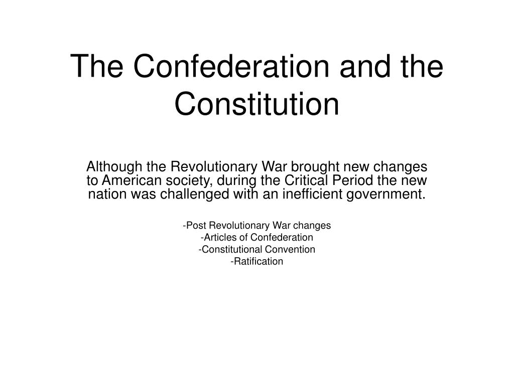 the confederation and the constitution l.
