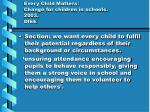 every child matters change for children in schools 2003 dfee