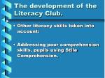 the development of the literacy club