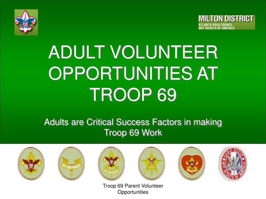 adult volunteer opportunities at troop 69 l.