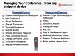 managing your conference from any endpoint device