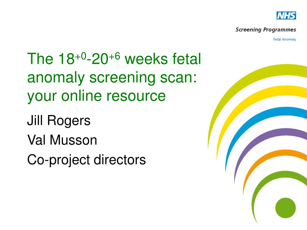 the 18 0 20 6 weeks fetal anomaly screening scan your online resource l.