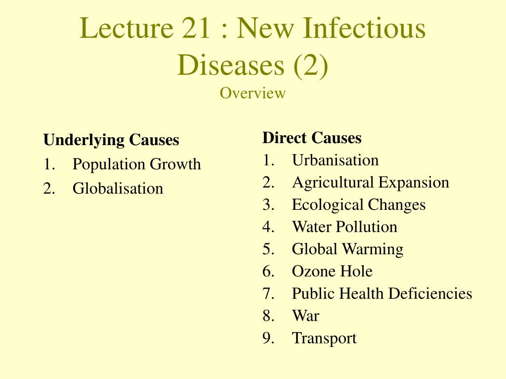 lecture 21 new infectious diseases 2 overview l.