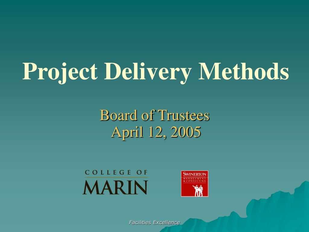 project delivery methods l.