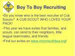 boy to boy recruiting