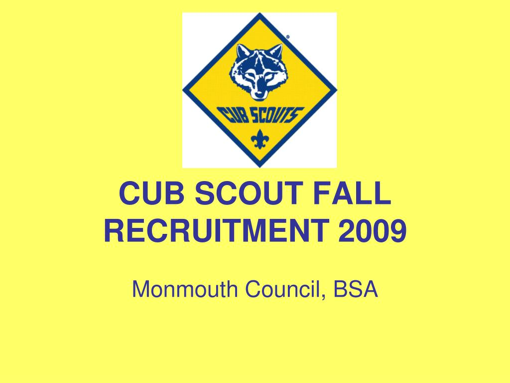 cub scout fall recruitment 2009 l.