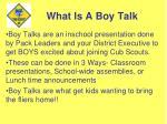 what is a boy talk