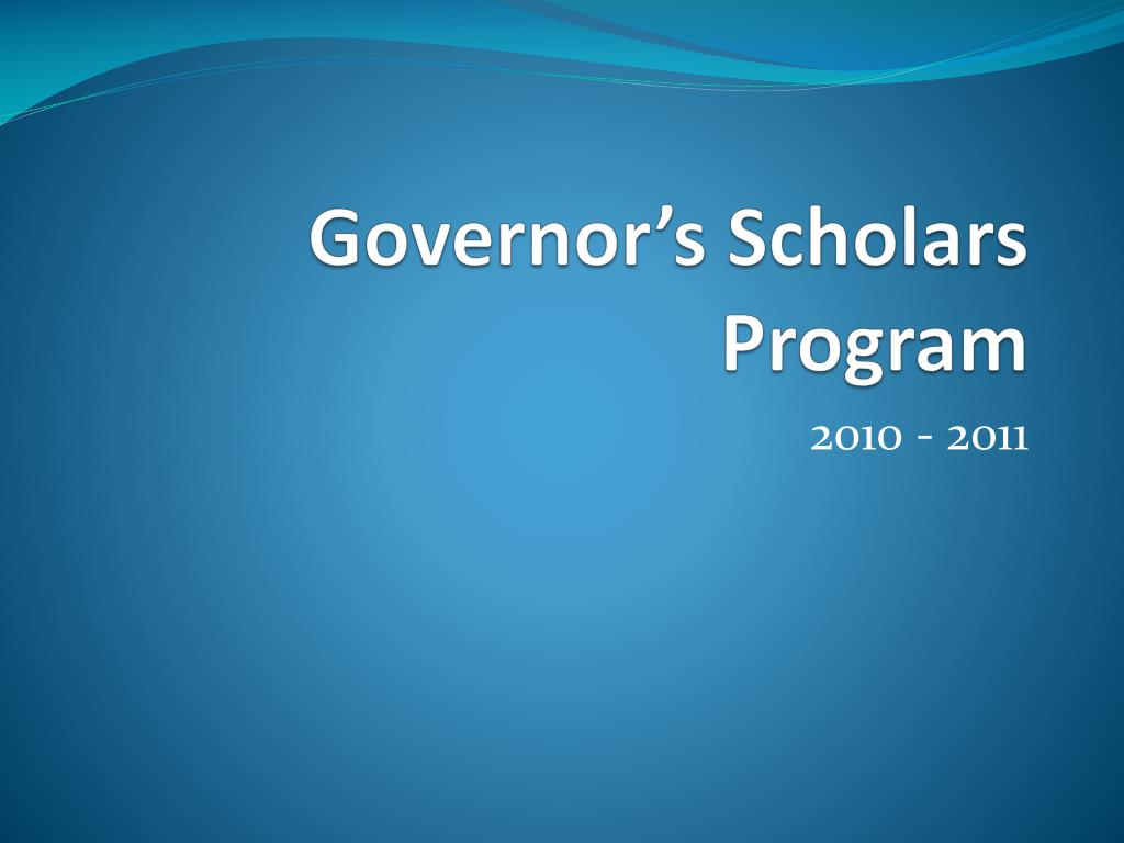 governor s scholars program l.