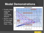 model demonstrations26