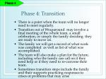 phase 4 transition