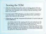 scoring the tom