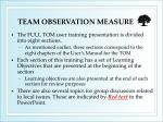 team observation measure