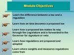 module objectives