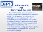 a partnership for safety and success