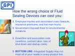 how the wrong choice of fluid sealing devices can cost you