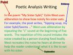 poetic analysis writing16