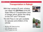 transportation in raleigh