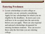 entering freshmen