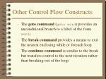other control flow constructs