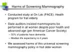 harms of screening mammography