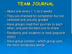 team journal