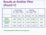 results at another mine round v