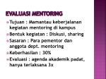 evaluasi mentoring