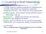 1 1 3 learning to read independently elementary example