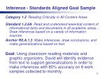 inference standards aligned goal sample