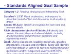 standards aligned goal sample