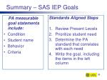 summary sas iep goals