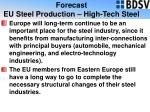 forecast eu steel production high tech steel23