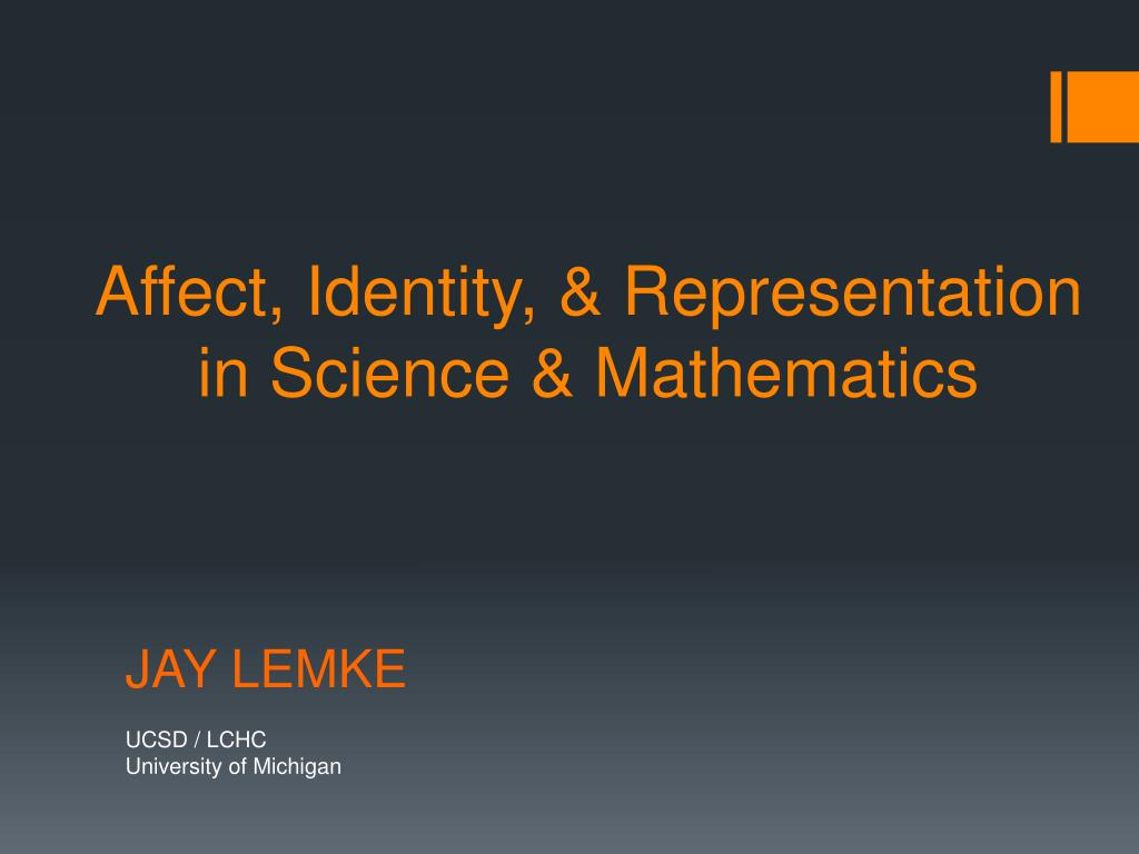 affect identity representation in science mathematics l.