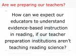 are we preparing our teachers
