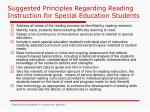 suggested principles regarding reading instruction for special education students